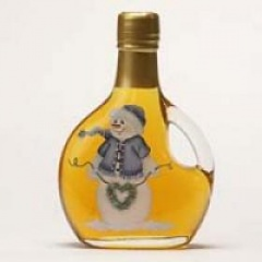 Maple Syrup in Snowman Bottle