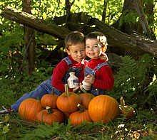 Boys with Pumpkins